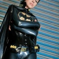 Costume de batman en latex! cosplay