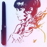 Jolie dessin en Pocket Brush par Kuvshinov Ilya.
