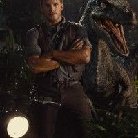 Photo de Chris Pratt et un Raptor dans #JurassicWorld