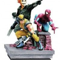 Figurine #Marvel en résine Ghost Rider  #Wolverine  Spider-Man #Spiderman
