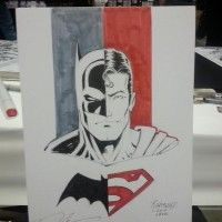 Dessin Batman Superman par Norm Rapmund