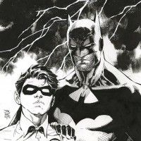 BATMAN et ROBIN dessinés par JIM LEE