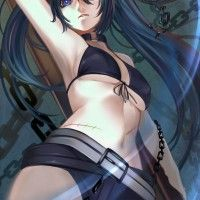 #Dessin #Fanart Black Rock Shooter par R-A