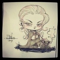 Dessin chibi de Daenerys Targaryen Game Of Thrones #GOT par Jon Sommariva