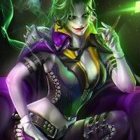 #Dessin #Fanart #Joker féminin par #Sakimichan Why so serious ?