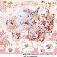 Collaboration #HelloKitty x Laura Ashley #Goodies #Fashion #Kawaii