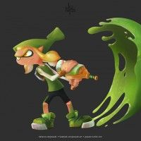 Smash Up #Splatoon #Link #Zelda par Jonas Camargo