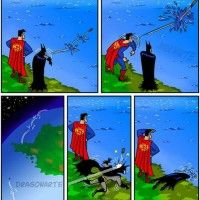 Batman vs Superman: Superman win!