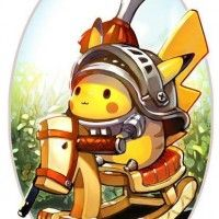 Chevalier #Pikachu #Pokemon trop kawaii