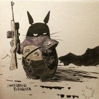 Dessin Totoro en mode Mad Max Fury Road