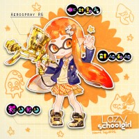 #Dessin #Splatoon Girl Squid Lazy Schoolgirl