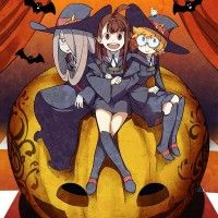 #Dessin illustration Little Witch Academia sorcière citrouille Haloween