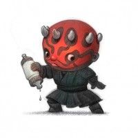 Dessin fanart Star Wars Dark Maul baby par Will Terry