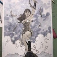 #Dessin #Illustration #WonderWoman aux #Feutres #Copic par Tony S Daniel http://www.tvhland.com/boutique/feutre-professionel-copic.html #Cin... [lire la suite]