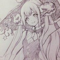 Dessin #Illustration sketch #Croquis fille par llcakoll #Halloween #Manga