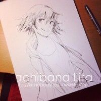 Dessin illustration Haru encrage copic multiliner par Tachibana Lita http://www.tvhland.com/boutique/liner-copic-multiliner.html