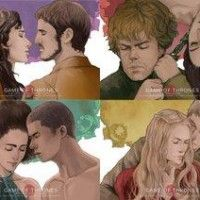 Les couples de Game of Thrones par l'artiste HarryYong