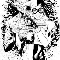 #Dessin #Illustration #Joker #HarleyQuinn par Art Thibert