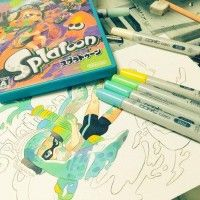 #Dessin #Coloriage #Feutres #Copic ciao #Splatoon par umezakura #Colorisation