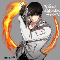 Dessin anniversaire Kyo Kusanagi par isroishin King Of Fighter