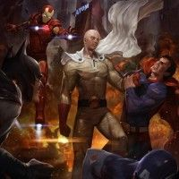 #OnePunchMan plus fort que #Superman, #Batman, #IronMan, #CaptainAmerica ? #Dessin de Lee Woo-chul