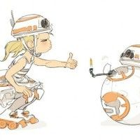 dessin de my2k bb8 Star Wars le réveil de la force