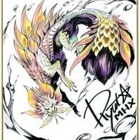 dessin sur shikishi monster hunter x