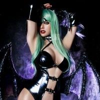 cosplay Morrigan succube darkstalker street fighter