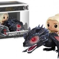 Figurine POP Game of Thrones Daenerys Targaryen chevauchant Drogon trop mignon !