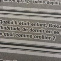 Question 2 pour gagner le quiz officiel de dragonball de glenat.