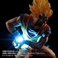 Figurine Son Goku Dragon Ball avec un kameha à led