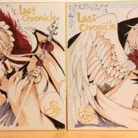 Last Chronicle dessin sur shikishi