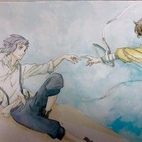 Aquarelle Bungou Stray Dogs dessin buta009 La Création D'Adam