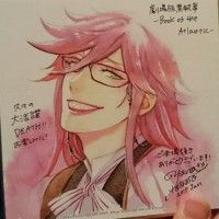 Black Butler Book Of The Atlantic Grell Sutcliff  dessin shikishi