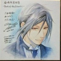 Black Butler Book Of The Atlantic Sebastian Michaelis dessin shikishi