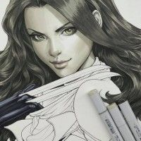 #Dessin #X23 #Wolverine #Artgerm #FeutreàAlcool #CopicSketch #Comic marvel #Colorisation