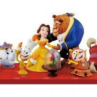 figurines toutes mignonnes de La Belle Et La Bête Beauty And The Beast Banpresto