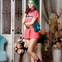 Cosplay de Bulma de dragon ball
