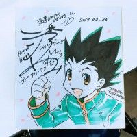 dessin sur #Shikishi #HunterXHunter #Manga #Animation #DessinSurShikishi
