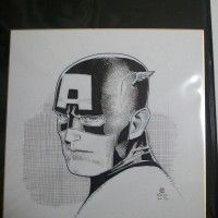 #Dessin sur #Shikishi #CaptainAmerica Jim Cheung #Comic #DessinSurShikishi