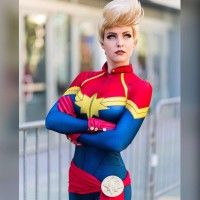 #Cosplay de #CaptainMarvel par maidofmight