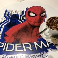 Café Latte au #Spiderman:Homecoming café au #Japon