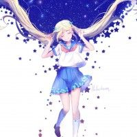 #Fille sailor couettes #Dessin lluluchwan #Manga
