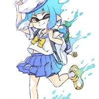 #Splatoon sailor #Dessin comamawa #JeuxVideo #Inkling