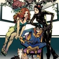 Batgirl and the Birds of Prey dessin mangaka Kamome Shirahama Catwoman Poison Ivy chat