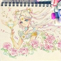#SailorMoon #Dessin Anzy's Artbook #Feutre #CopicSketch #Manga