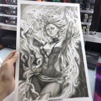 #phoenix #jeangrey #marvel #comics #Dessin #Artgerm #Copic #Feutre