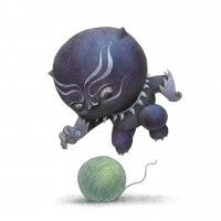 #BlackPanther #Kawaii #Dessin will terry #Marvel