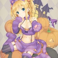 #Halloween #Fille #Chat #Kawaii #Dessin kani_biimu #Manga