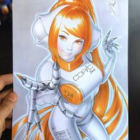 #Copic Y38 Honey #Dessin Warren Louw #Manga